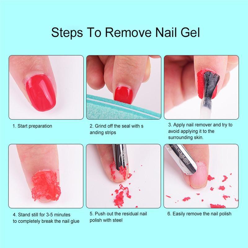 Magic Nail Polish Remover Burst Magic Remove Uv Gel Nail Polish Soak Off Nail Art Primer Acrylic Clean Degreaser For Nail Lacquer Magic Nails Uv Gel Nail Polish Nail Polish