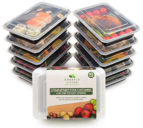 Food Containers Meal Microwavable BPA Free Plastic Reusable Lunch Box Pack of 10