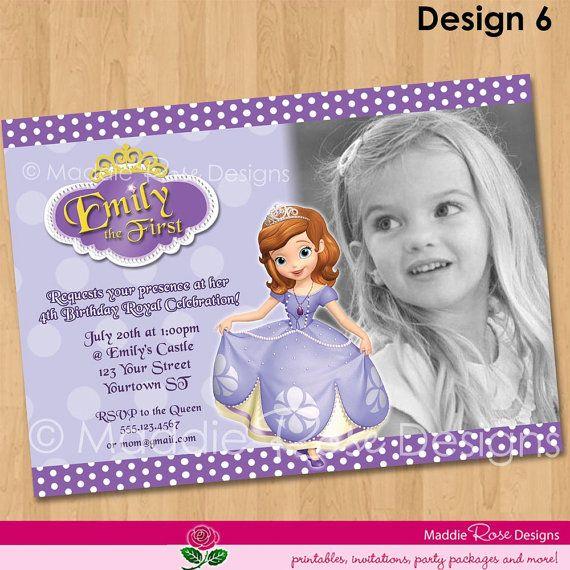 sofia the first invitation printable