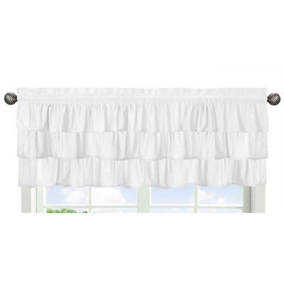 Sweet Jojo Designs Solid Grey Window Valance
