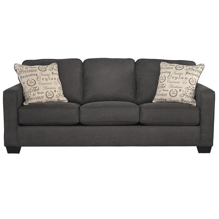 Alenya Queen Sofa Sleeper In Charcoal Nebraska Furniture