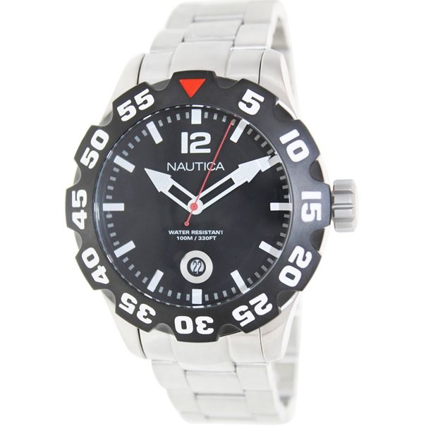 Nautica Men's Bfd 100 N18622G Silver Stainless-Steel Quartz Watch