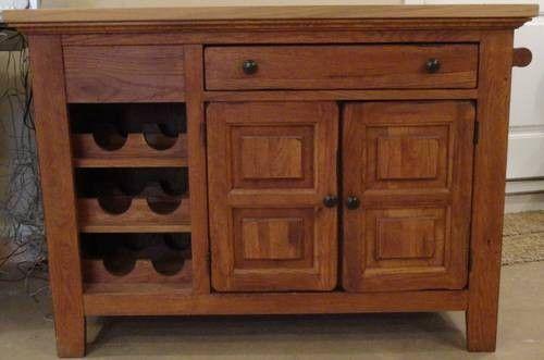 Broyhill Attic Heirloom Kitchen Island Rustic Furniture