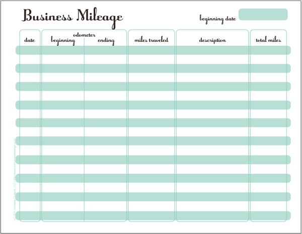 gas mileage spreadsheet template