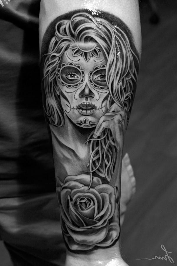 la catrina tattoo bedeutung was steht hinter dem trend tatua pinterest la catrina. Black Bedroom Furniture Sets. Home Design Ideas