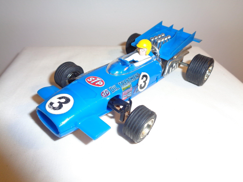 Vintage 1970s Boxed Scalextric Blue C43 McLaren F1 Slot