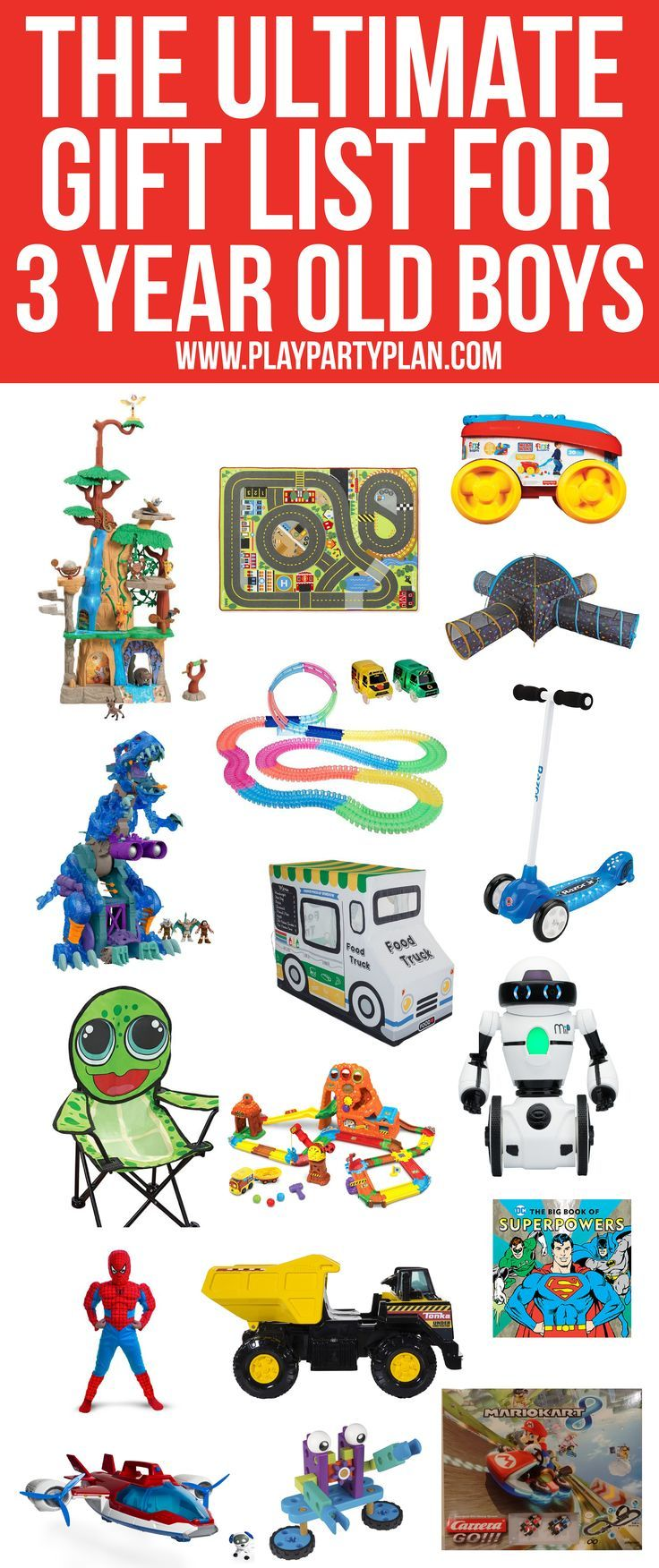 The Ultimate List Of Gift Ideas For A 3 Year Old Boy Everything From Superhero Gifts To Books Preschoolers Youll Sure Find Something Theyll Love