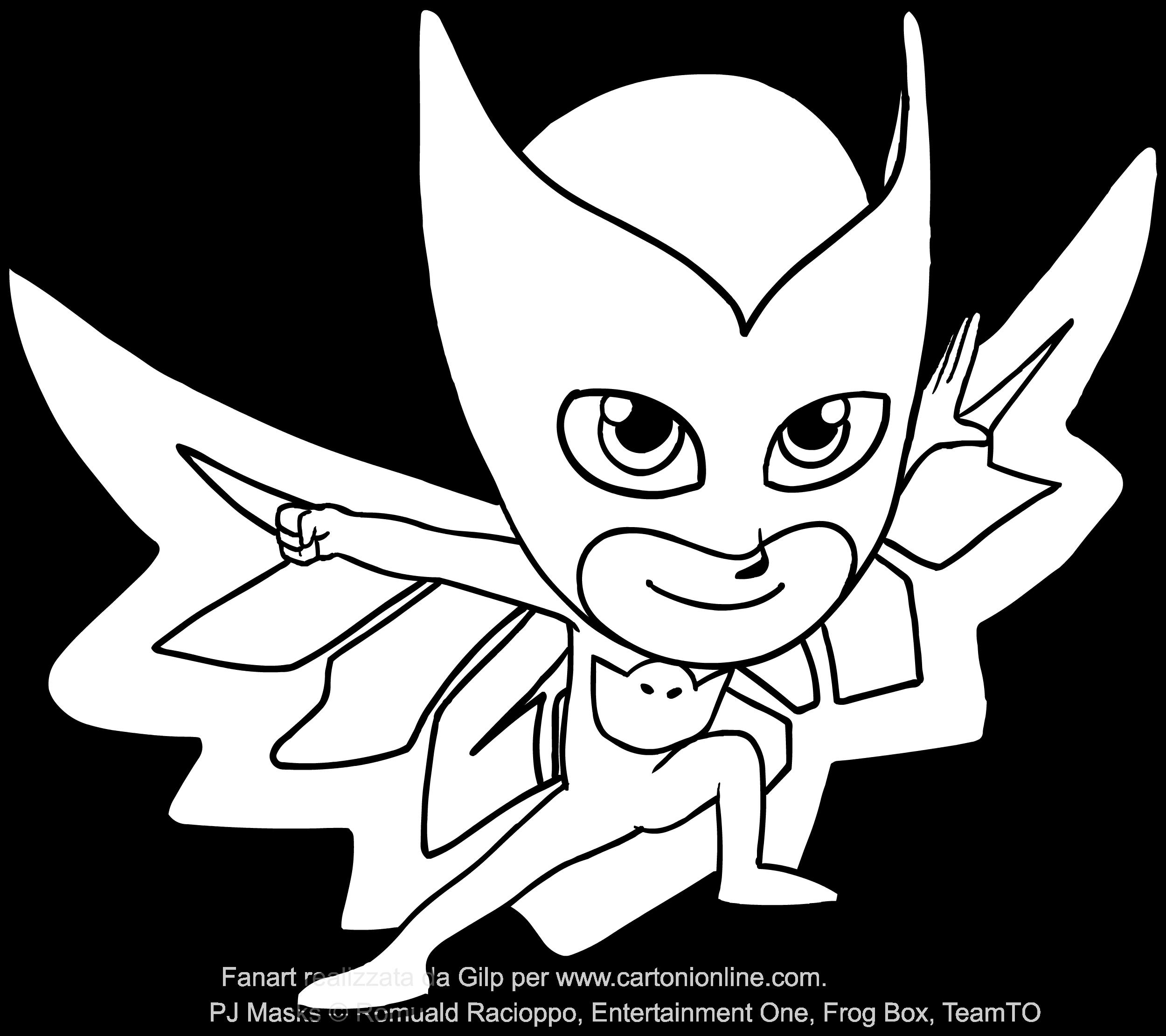 Disegno di Gufetta dei PJ Masks superpigiamini da colorare | mia ...