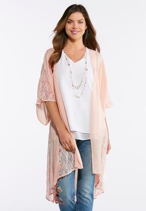 90f3275df Cato Fashions Gauze Lace Kimono Duster #CatoFashions | Closet ...