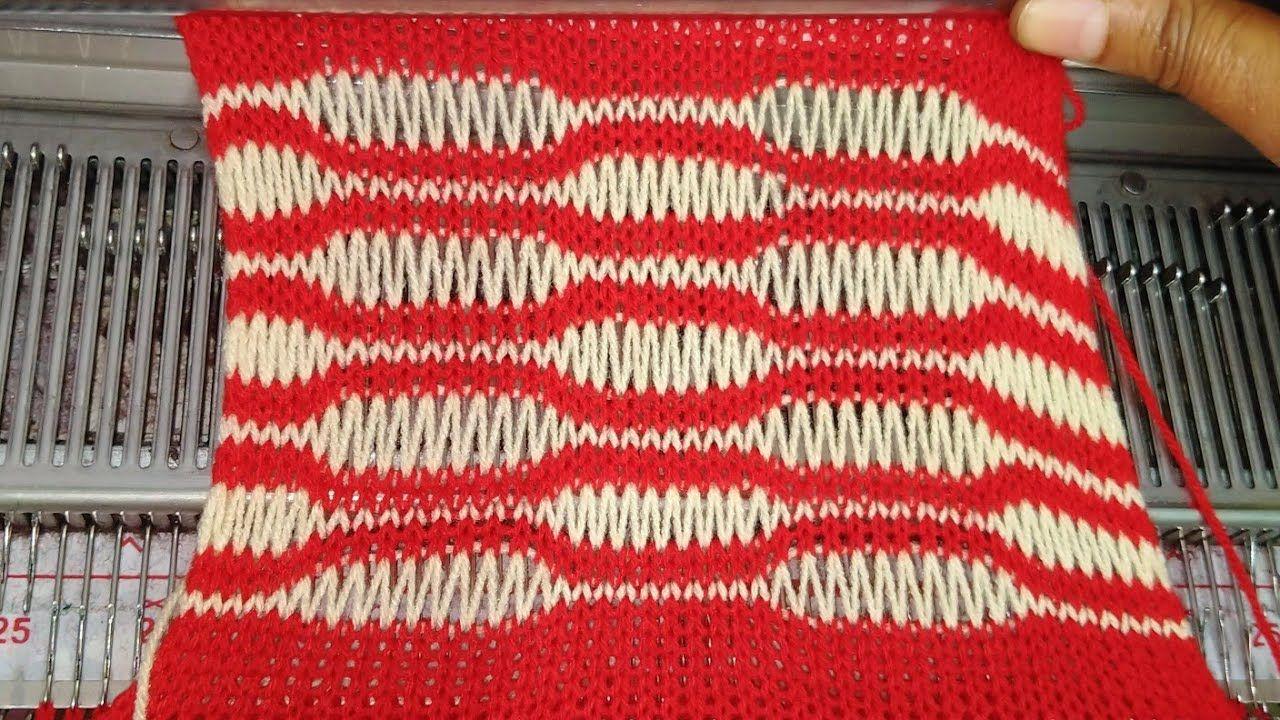 Beautiful knitting pattern for sweater in Knitting machine ...