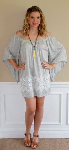 summer, dress, off shoulder, grey, simple, beach cover up, cotton, outfit, cute, fashion, ootd, style, boutique