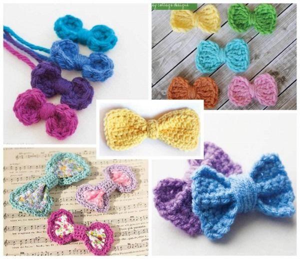 Free Crochet Bow Pattern #crochetbowpattern