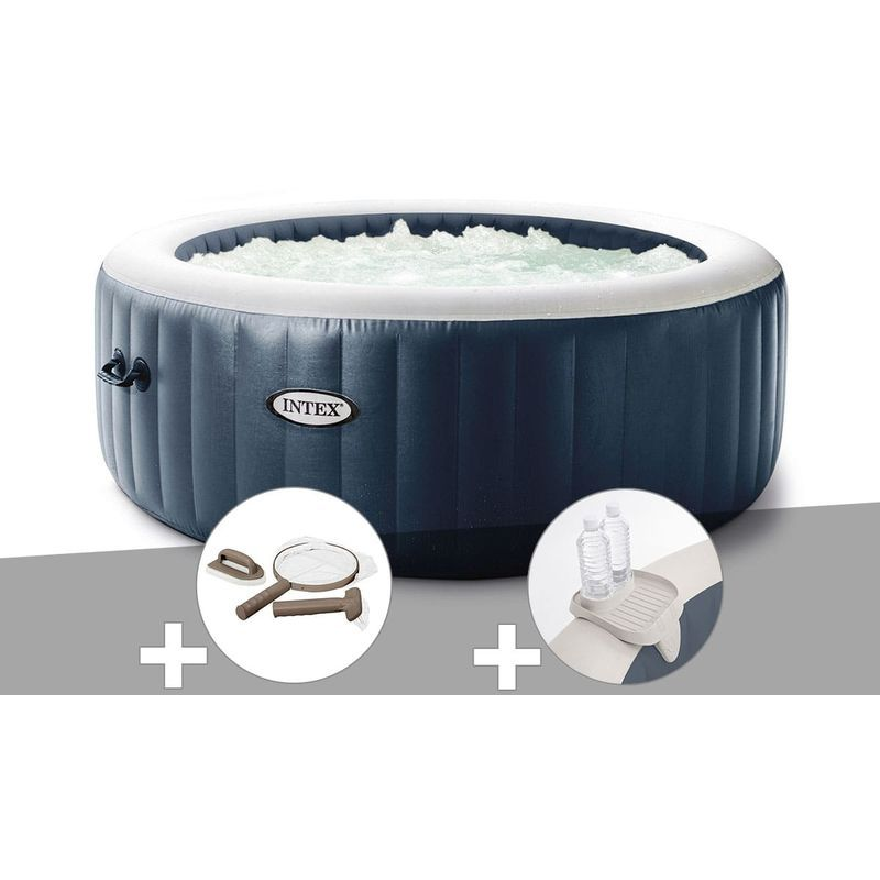 Kit Spa Gonflable Intex Purespa Blue Navy Rond Bulles 4 Places Kit D Entretien Porte Verre 28430ex 28004 28500 En 2020 Spa Gonflable Spa Gonflable Intex Et Gonflable