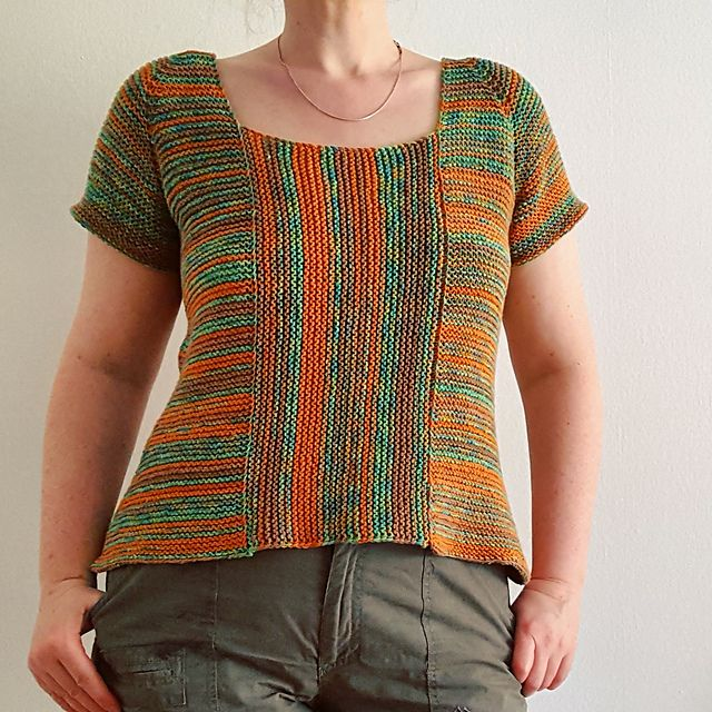 Summertime Garter Stitch Top | Busos | Pinterest | Quiero