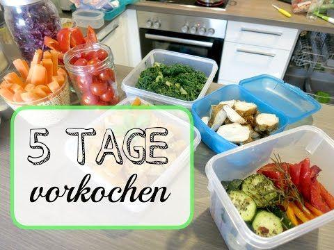 5 TAGE vorkochen - für Uni, Schule, Arbeit - YouTube Healthy - gesunde küche zum abnehmen