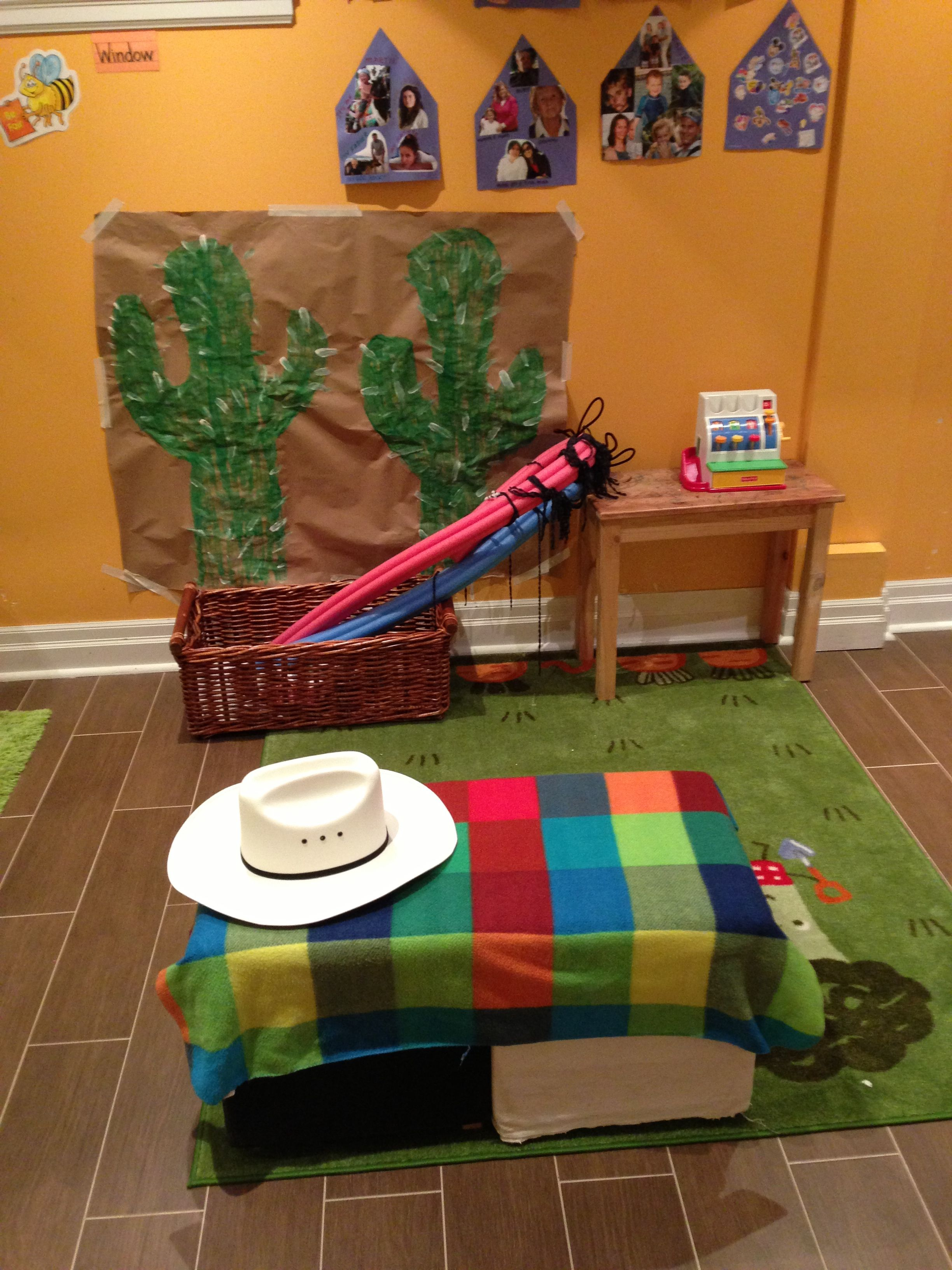 Wild West Theme Dramatic Play Center