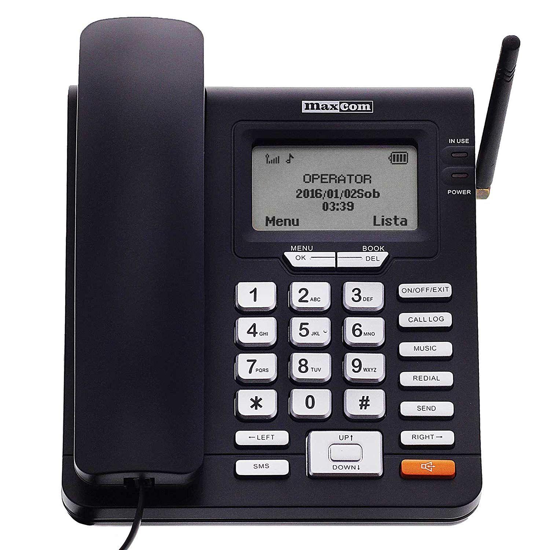 maxcom t l phone fixe gsm de bureau carte sim fonction sms seniors bureau t l phonie. Black Bedroom Furniture Sets. Home Design Ideas