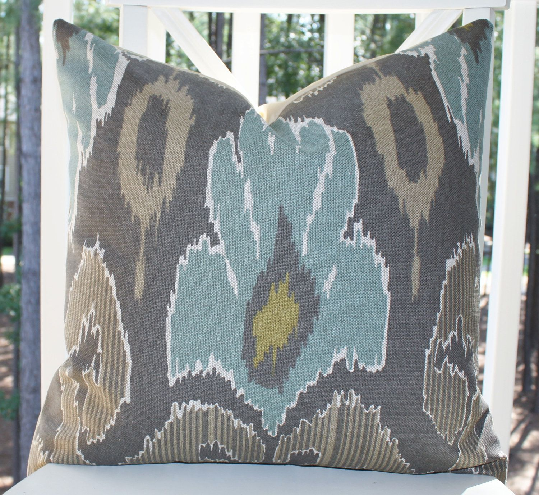 Blue brown pillows decorative