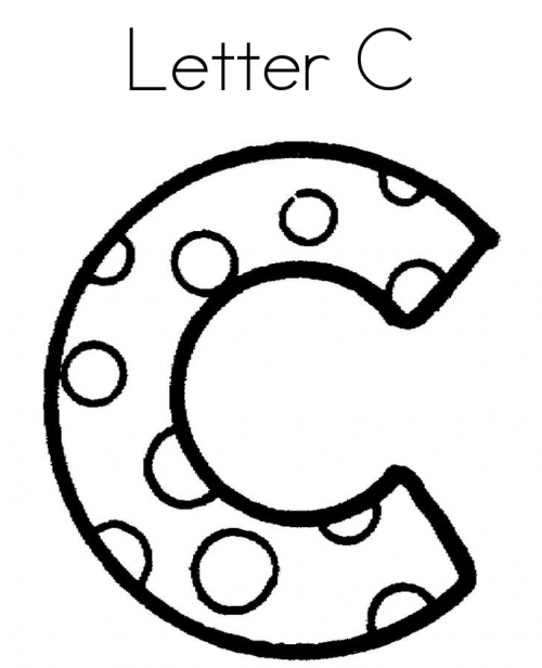 Letter C Shaped Round Cool Coloring Page Alphabet Coloring Pages Letter C Coloring Pages Coloring Pages