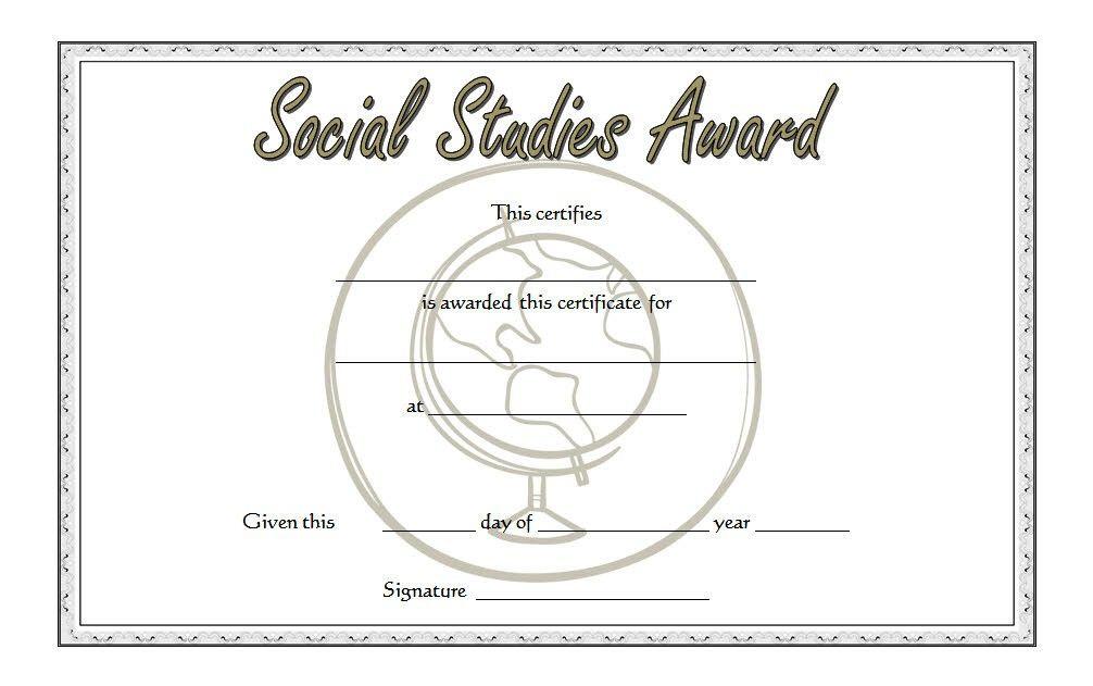 Social Studies Certificate Template 6 (Dengan gambar)