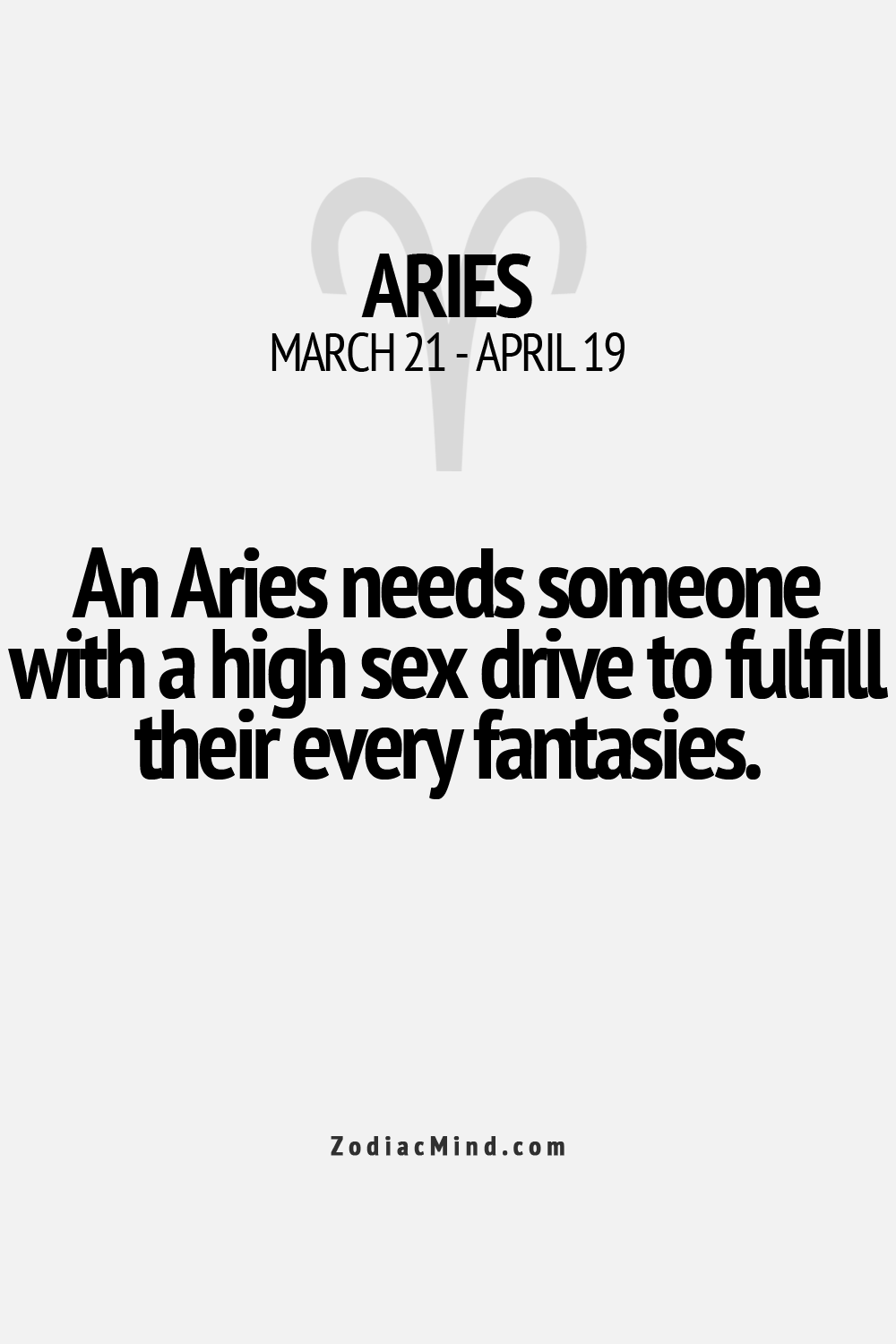 Sexual facts about aries