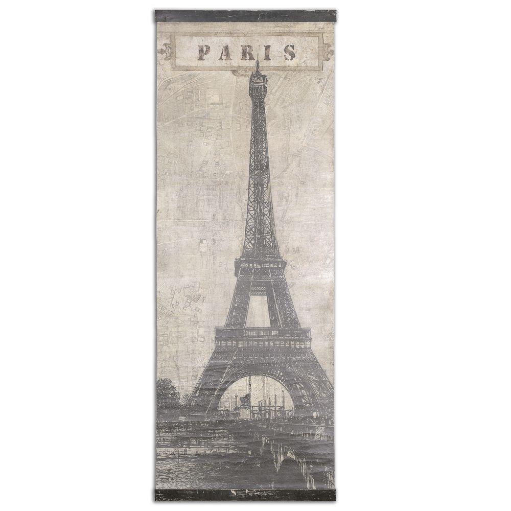 Vintage Eiffel Tower Canvas Art - crackle finish | VINTAGE, SHABBY ...