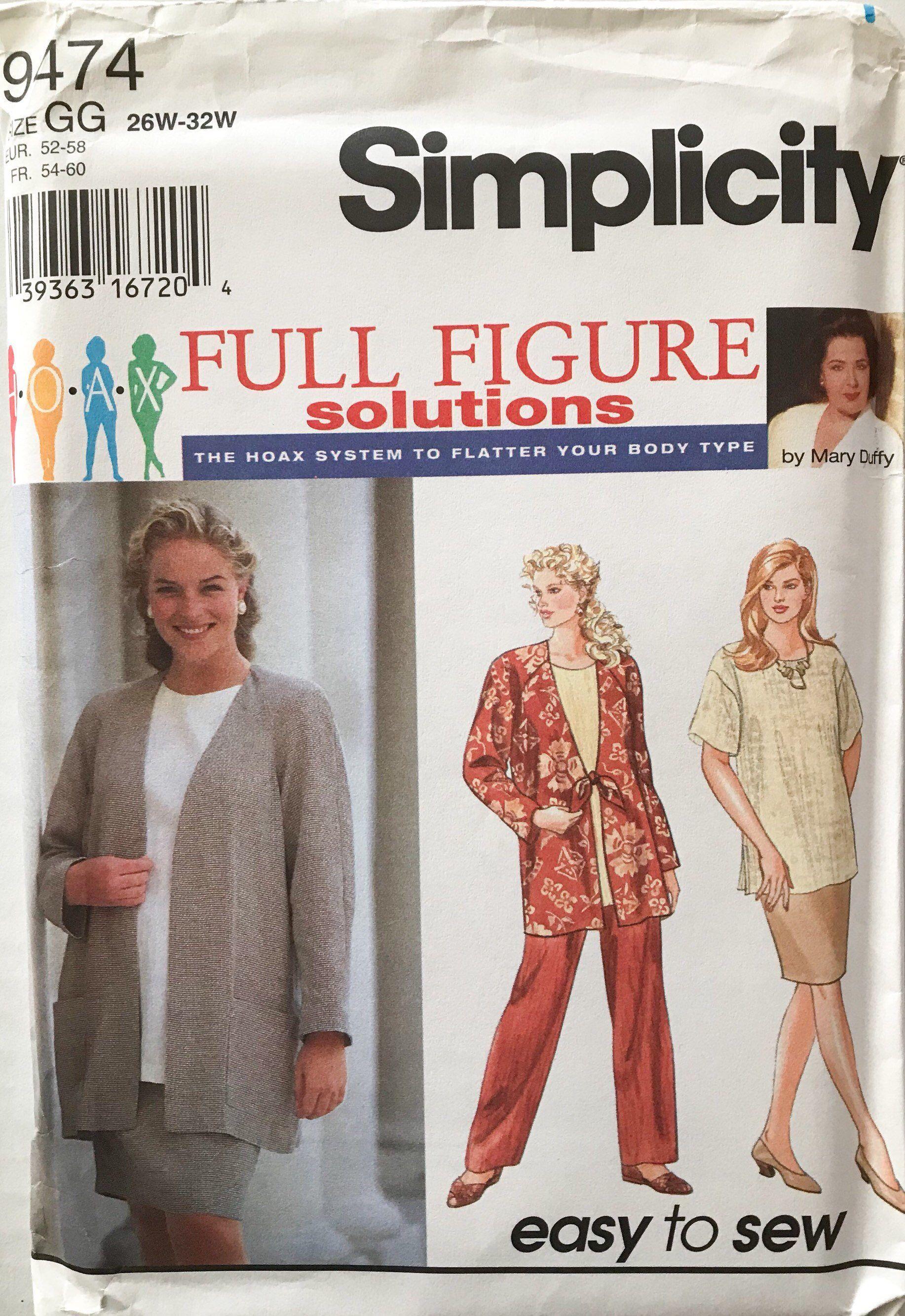 Women S Plus Size Sewing Pattern Simplicity 9474 Plus Size Pants