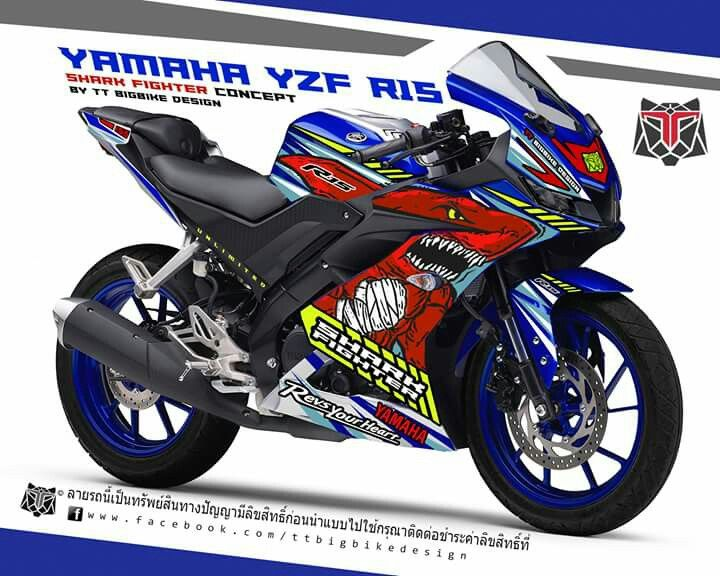 sticker kit for yamaha yzf r15 by ttbigbikedesign | TTBIGBIKEDESIGN