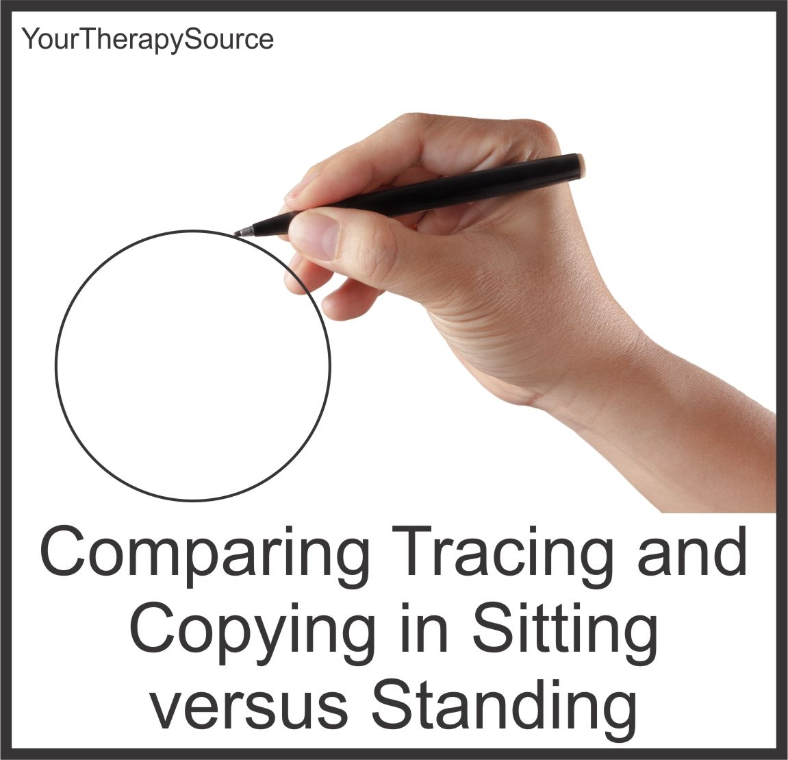 Comparing Tracing And Copying In Sitting And Standing