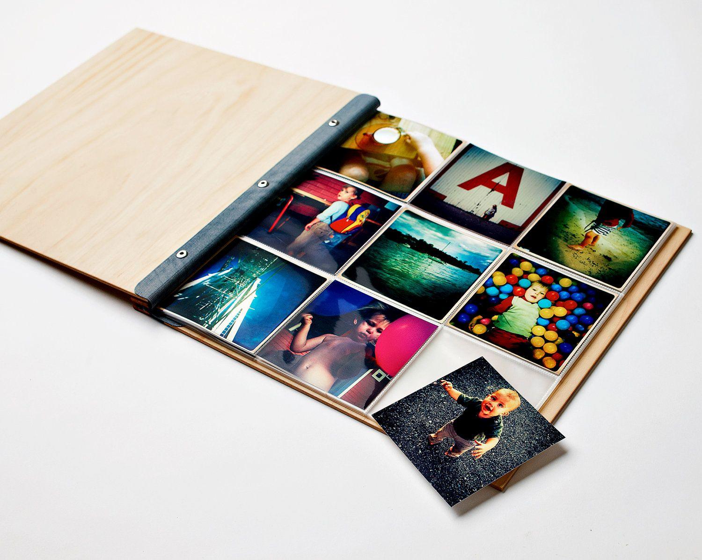 instagram polaroid photo album custom wood wedding. Black Bedroom Furniture Sets. Home Design Ideas