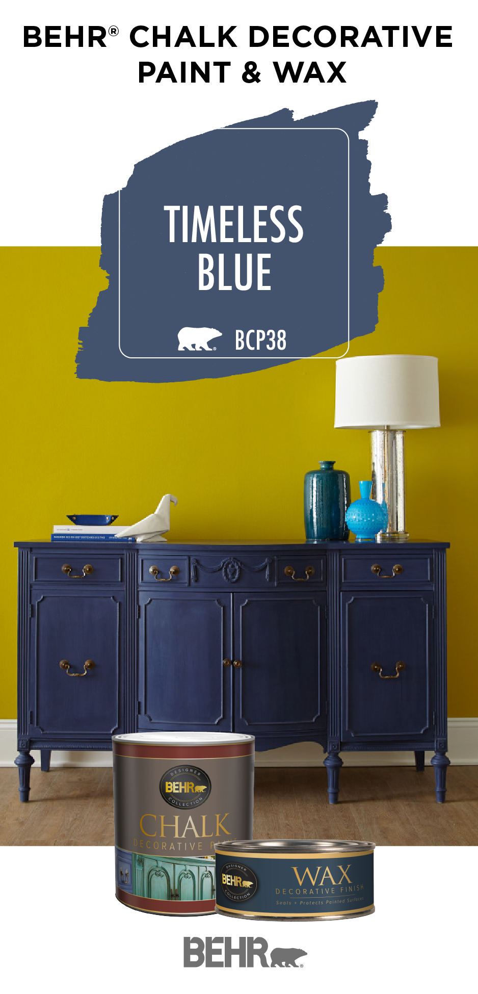 Give old furniture a brand new style with BEHR® Chalk