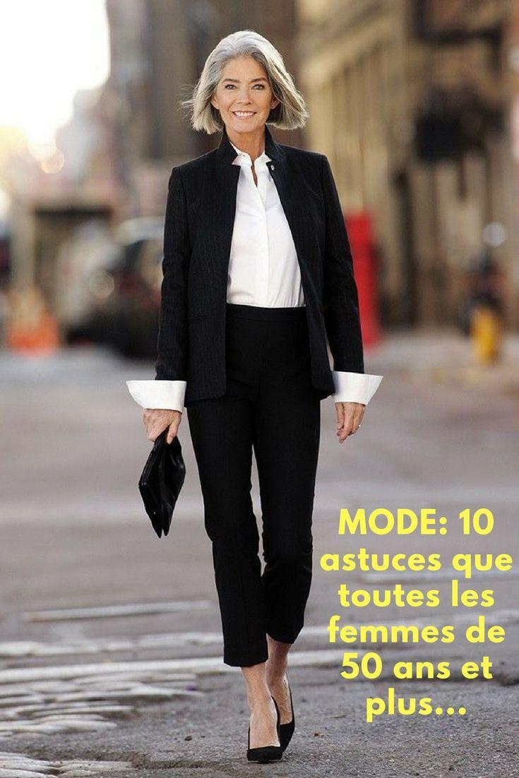 mode 10 astuces que toutes les femmes de 50 ans et plus devraient conna tre mode en 2019. Black Bedroom Furniture Sets. Home Design Ideas