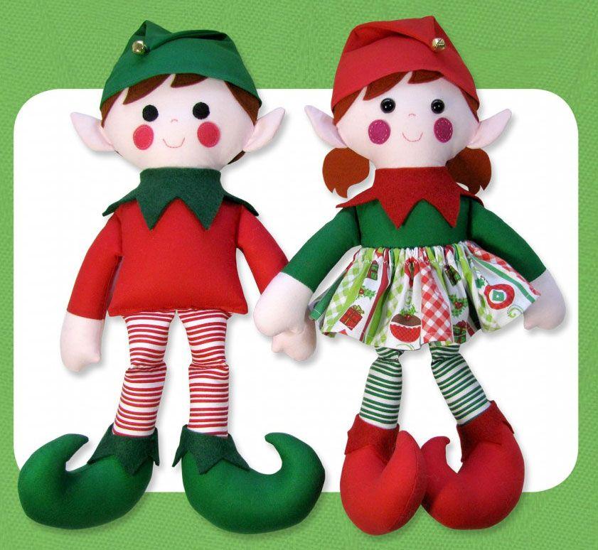 Edward Edwina Elf Sewing Pattern Funky Friends Factory Christmas