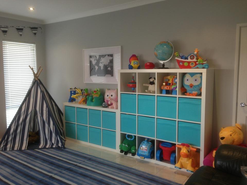 Dulux Kids Bedroom In A Box: My Kid's Playroom Ikea Expedits, Mocha Teepee, MayandBelle