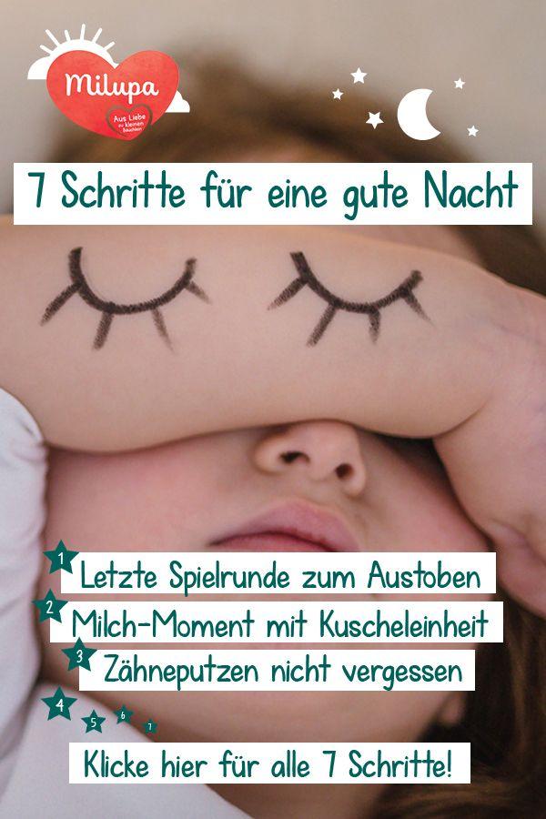 Mit diesen sieben Schritten findet dein Kind in den Schlaf