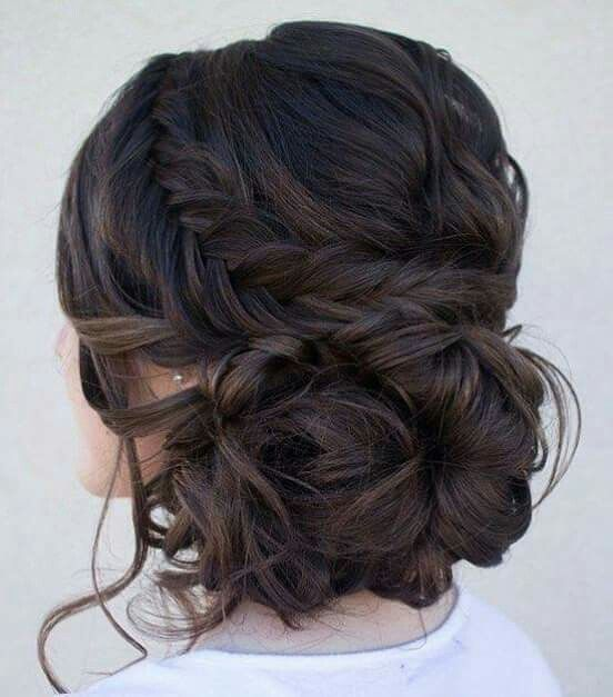 Plait Large Messy Bun Hair Styles Fall Wedding Hairstyles Pretty Hairstyles