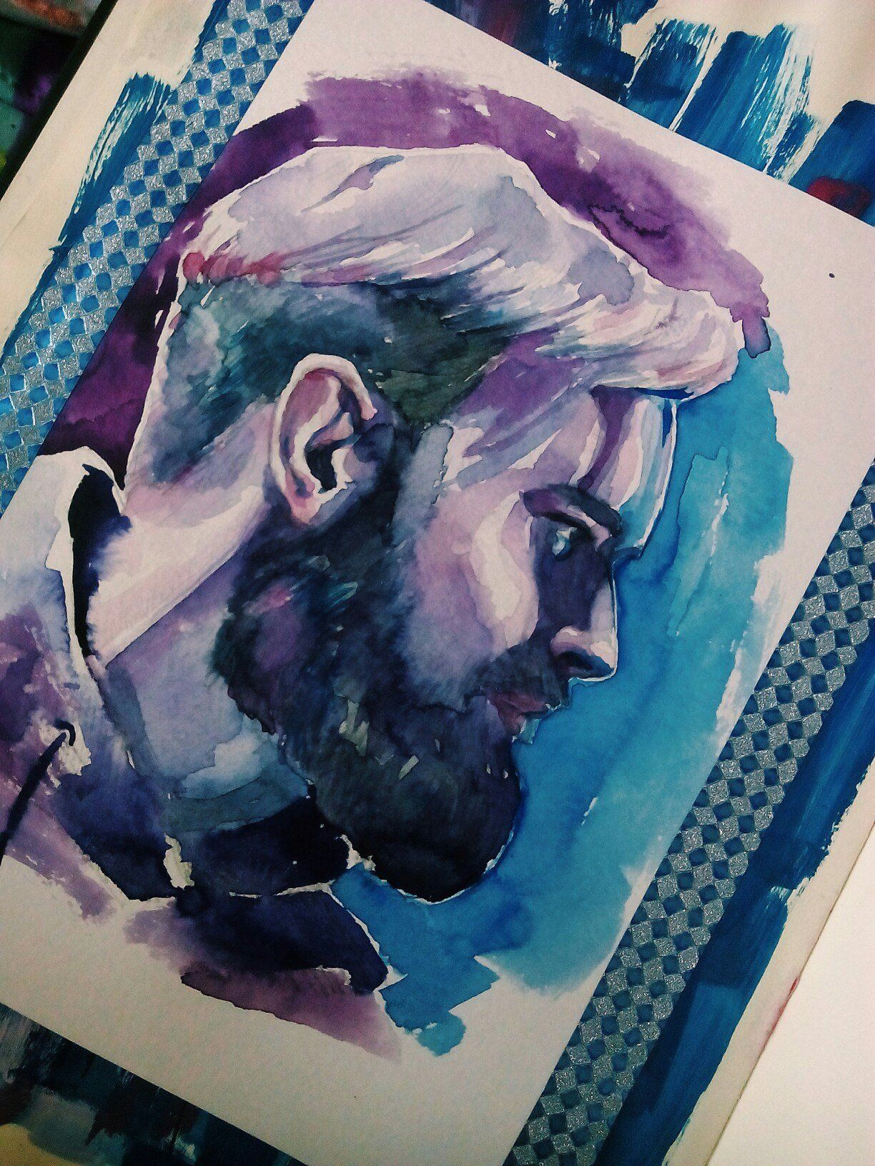 Amazing PewDiePie watercolor by ourcallboy on Reddit