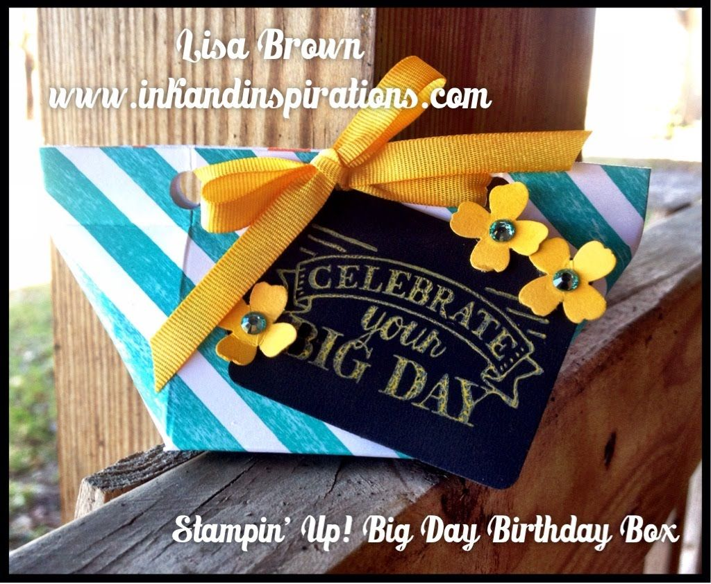 Stampin' Up! Video Tutorial Big Day Birthday Box