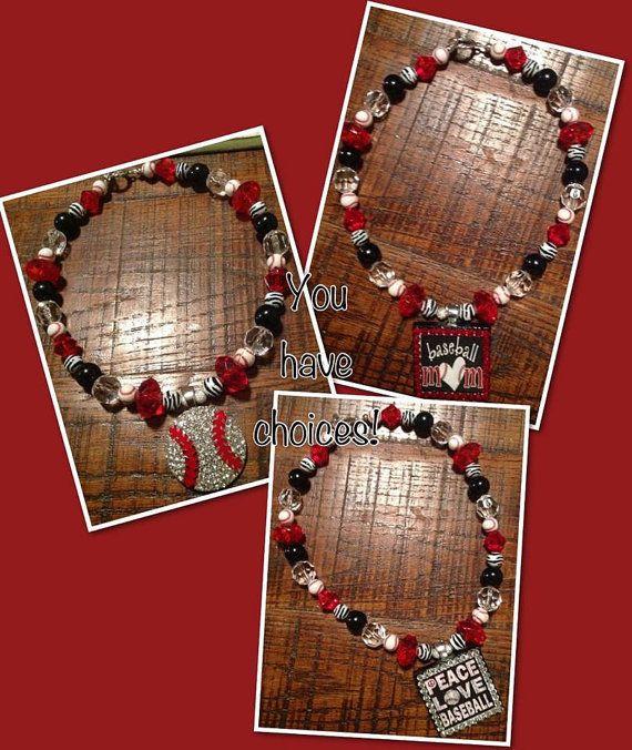 Baseball Pendant on Team Spirit Beads by sassygirlsx3 on Etsy, $24.95