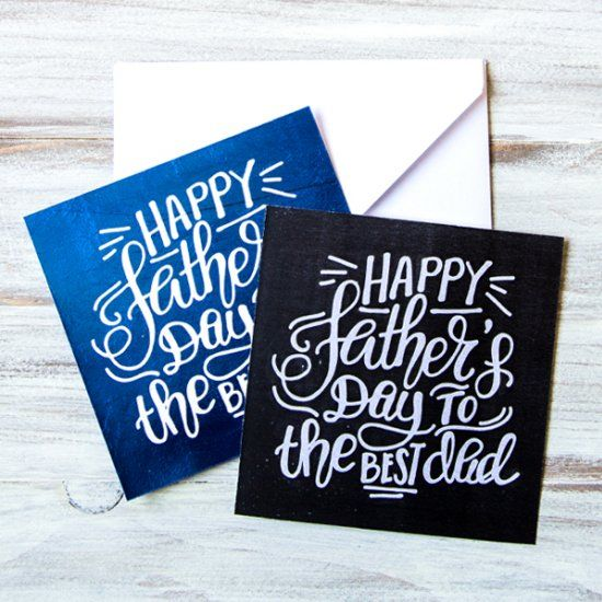 Give dad a fun, handlettered card with this free printable!