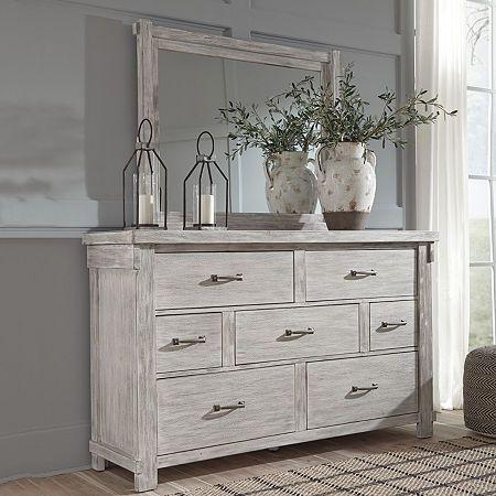 Signature Design By Ashley Brashland Dresser And Mirror Dresser Decor Bedroom Master Bedroom Furniture Furniture