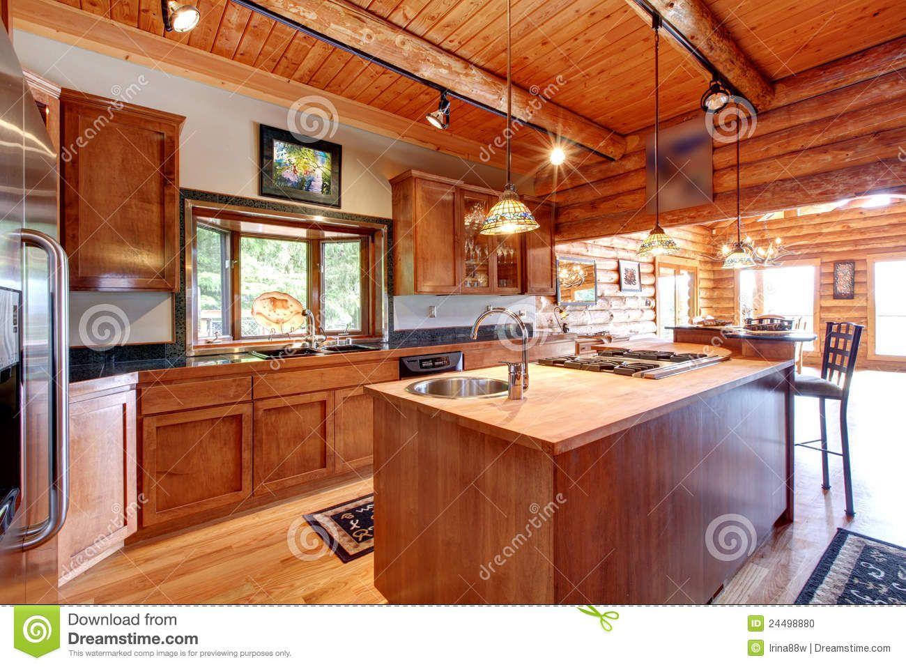 cocinas de cabañas de madera - Buscar con Google | quincho | Pinterest