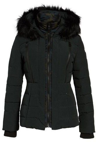 b3c84ed8b40a GUESS Women s Quilted Hooded Puffer Coat With Faux Fur Trim