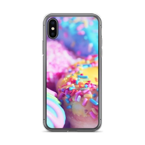 e1920c9521 Rainbow Donut iPhone Case, iPhone 6/6s, iPhone 6/6s Plus, iPhone 7/8,  iPhone 7/8 Plus, iPhone X, Doughnut Phone Case, Sprinkles, Junk Food