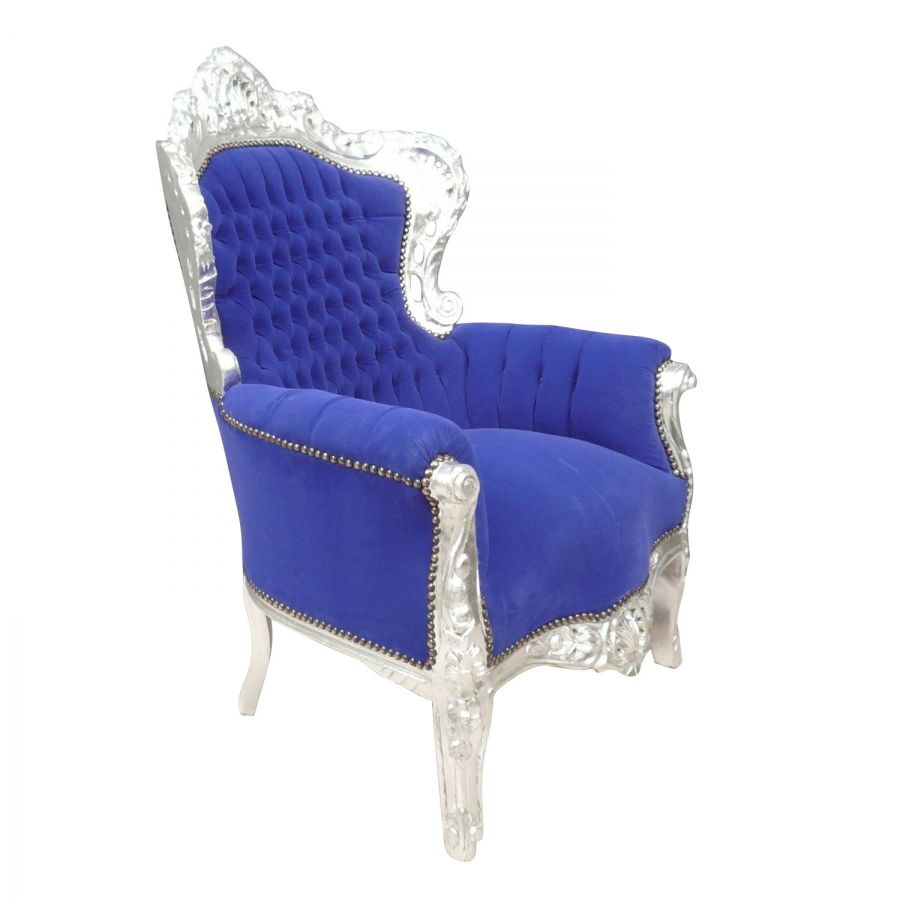 Fauteuil Chairarmchair BaroquesDesign Baroque Bleu Fauteuils HDeW9IY2Eb