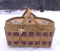 Picnic Hamper Basket Weaving Pattern