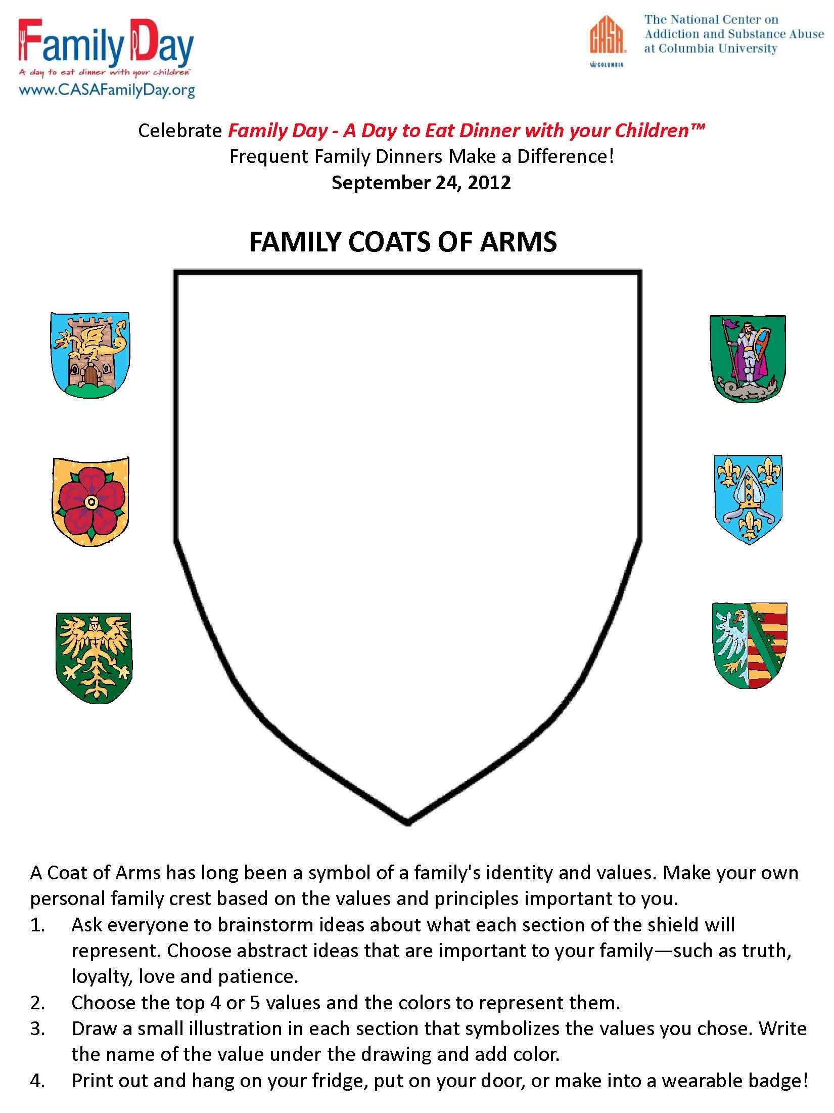 Family Activities Fhe Family Coat Of Arms