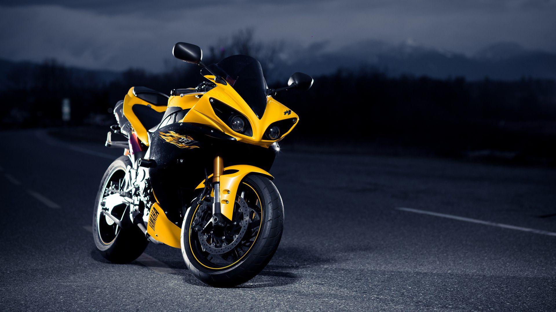 1920x1080 Superbike Black Night Yellow Yamaha