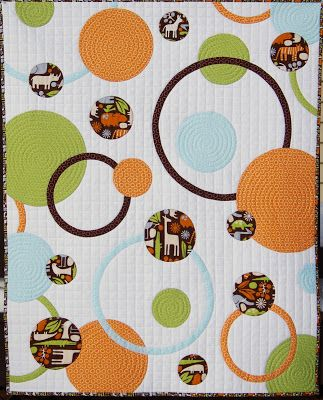 Circles and Rings Baby Quilt