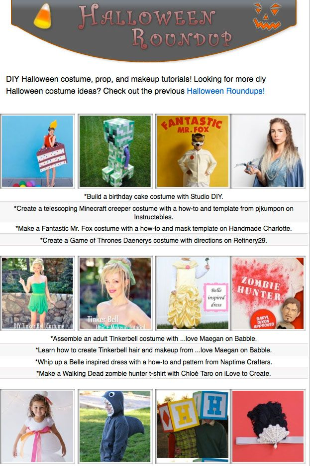 16 free diy Halloween COSTUME tutorials- costume diys, makeup - do it yourself halloween costume ideas